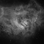 M8 Lagoon Nebula in Ha  Ha =200min