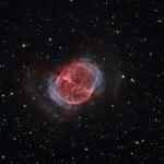 M27 Dumbell Nebula Ha OIII BiColor  Ha=260min OIII=160min