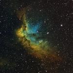 NGC7380-Wizard_Ha OIII SII Hubble Palette  Ha=440 OIII280  SII180