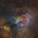 M17 Swan Nebula Ha OIII SII  Hubble Palete  Ha 8.6hrs  OIII 3.6hrs  SII 4.3hrs   RGB 40min each