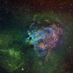 M17 Swan Nebula Hubble Palette Ha 260min  OIII 80min  SII 120min
