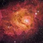 M8 Lagoon Nebula Ha OIII SII