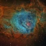 M8 Lagoon Nebula BF astro color palette  Ha 200min  OIII 100min  SII 100min