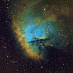 NGC281 Pacman Nebula Ha OIII SII Hubble Palette Ha 4Hrs  OIII 3Hrs  SII