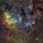 NGC7822 Sh2-171  Hubble Palette  Ha=11Hrs  OIII=5Hrs  SII=5Hrs
