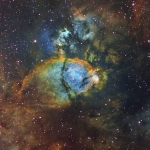 IC1795 The Fishhead nebula Ha=8.5Hrs  OIII=4Hrs  SII=4Hrs