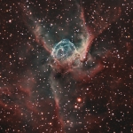 NGC2359-Thors-Helmet Ha OIII Ha=440min  OIII=520min  Scope TMB130mm  Camera Apogee U8300