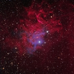 IC405 Flaming Star Nebula HaRGB  Ha=4.5hrs  R=1hr  G=1hr  B=4hrs   Total Image time 10.5hrs