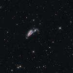NGC5395 Heron Galaxy