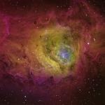 M8 Lagoon Nebula CFHT color palette  Ha 200min  OIII 100min  SII 100min