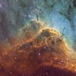CROP NGC5070 Pelican Nebula Ha OIII SII Hubble palette