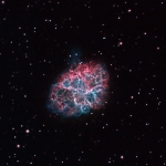 M1  Crab Nebula Ha OIII BiColor Image Ha=9hrs OIII=3hrs