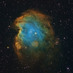 NGC2174 Monkey Head  Ha OIII SII Hubble Pallet Selective Color Adjustment Ha 5hrs  OIII 3hrs   SII 4hrs